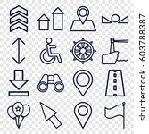 navigation icons set. set of 16 ... | Shutterstock .eps vector #603788387