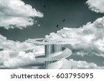 design element. 3d illustration.... | Shutterstock . vector #603795095