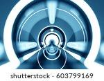 design element. 3d illustration.... | Shutterstock . vector #603799169