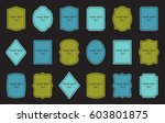 set of product label templates. ... | Shutterstock .eps vector #603801875