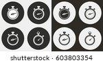stopwatch vector icons set.... | Shutterstock .eps vector #603803354