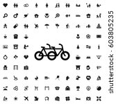 family bicycle icon... | Shutterstock .eps vector #603805235