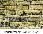 waterfall on the stone scene... | Shutterstock . vector #603810269