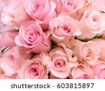 Stock photo pink roses bouquet background 603815897