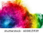 freeze motion of colorful ... | Shutterstock . vector #603815939