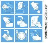 wash hands instruction  set of...   Shutterstock .eps vector #603818159