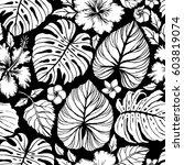 aloha hawaiian shirt seamless... | Shutterstock .eps vector #603819074