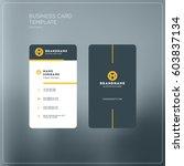 vertical business card print... | Shutterstock .eps vector #603837134