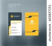 vertical business card print... | Shutterstock .eps vector #603837251