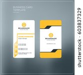 vertical business card print... | Shutterstock .eps vector #603837329
