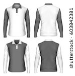 men's long sleeve polo shirt....   Shutterstock .eps vector #603842381
