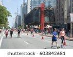 sao paulo  brazil   october 23  ... | Shutterstock . vector #603842681
