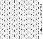 vector seamless pattern.... | Shutterstock .eps vector #603845984