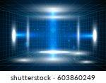 vector technology blue lines... | Shutterstock .eps vector #603860249