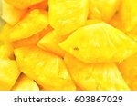 pineapples are a tropical fruit ... | Shutterstock . vector #603867029