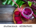 fresh smoothies of beet with a...