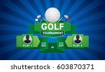 vector of golf tournament with...   Shutterstock .eps vector #603870371