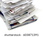 mails and bills on stacking... | Shutterstock . vector #603871391