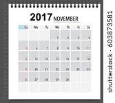 2017 calendar planner vector... | Shutterstock .eps vector #603873581