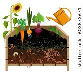compost pile. vector... | Shutterstock .eps vector #603873671