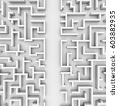 giant white maze structure ... | Shutterstock . vector #603882935