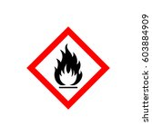 flammable sign  flame pictogram....