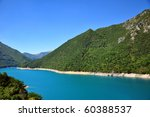 blue lake in mountains  pivsko... | Shutterstock . vector #60388537