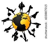 female silhouettes around... | Shutterstock .eps vector #603887015