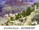 Rocky Slope With Juniper Trees...