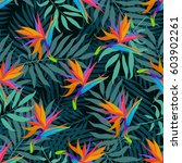exotic seamless vector pattern... | Shutterstock .eps vector #603902261