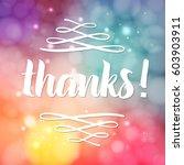thank you phrase for social... | Shutterstock .eps vector #603903911