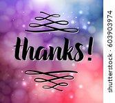 thank you phrase for social... | Shutterstock .eps vector #603903974