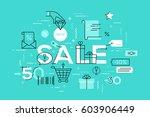 modern vector illustration... | Shutterstock .eps vector #603906449