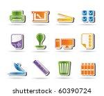 print industry icons   vector... | Shutterstock .eps vector #60390724