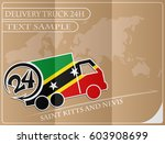 delivery truck 24h concept made ... | Shutterstock .eps vector #603908699