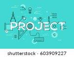 thin line design template for... | Shutterstock .eps vector #603909227