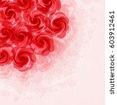 flower background | Shutterstock .eps vector #603912461