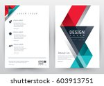 cover design vector template... | Shutterstock .eps vector #603913751