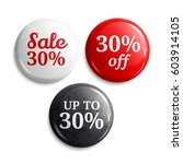30 percent discount on glossy... | Shutterstock .eps vector #603914105