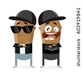 clipart of hip hop gangster rap ... | Shutterstock .eps vector #603919841