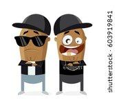 clipart of hip hop gangster rap ... | Shutterstock .eps vector #603919841