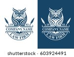 law firm logotype with owl....
