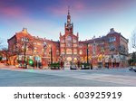 hospital of the holy cross and... | Shutterstock . vector #603925919