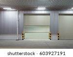 shutter door or roller door and ... | Shutterstock . vector #603927191