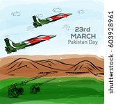 23rd of march pakistan day... | Shutterstock .eps vector #603928961