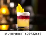 closeup glass of new york sour... | Shutterstock . vector #603932669