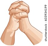 the hands are locked and... | Shutterstock .eps vector #603934199