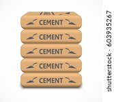cement bags. paper sacks... | Shutterstock .eps vector #603935267