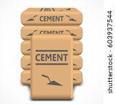 cement bags. paper sacks... | Shutterstock .eps vector #603937544