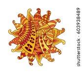 Zentangle Sun Vector Symbol. ...